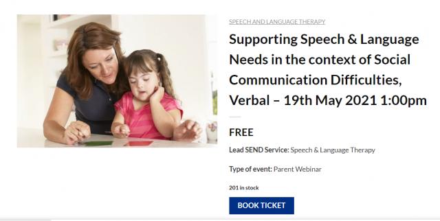 Speech, Language and Communication Needs Webinar