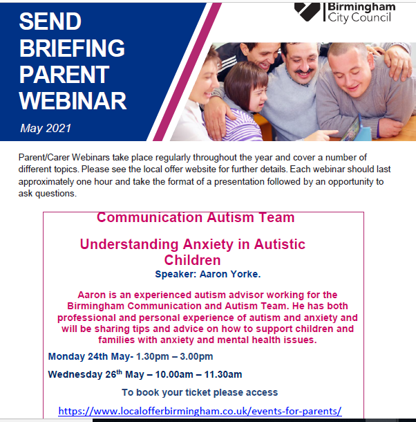 SEND Communication and Autism Webinar