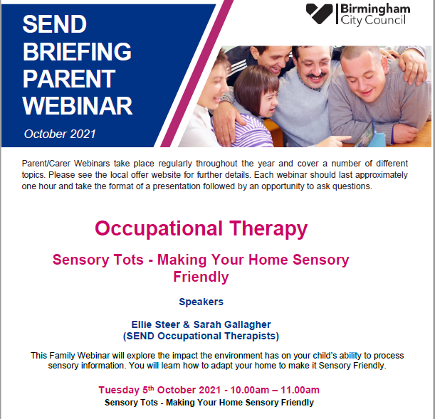 Sensory Tots Parent Webinar - Download the PDF to book your place