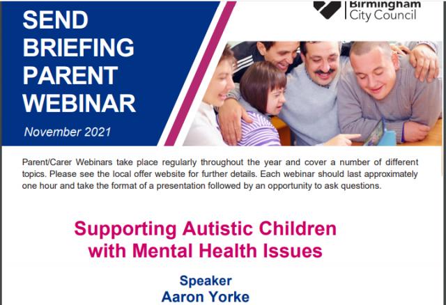 Autism Parent Webinar